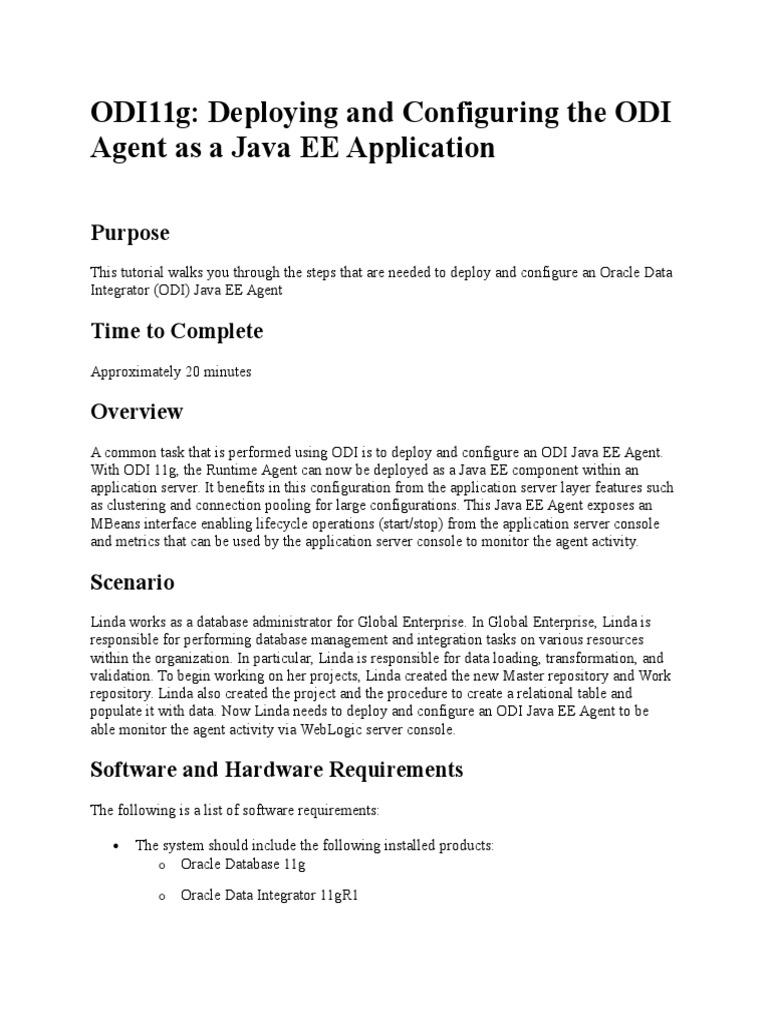 Odi11g configuration odiagent as j2ee application server odi11g configuration odiagent as j2ee application server oracle database baditri Gallery