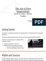 The Art of First Impressions- How to Cut a Movie Trailer
