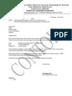 5 Surat Jurusan Ke Dekan (Contoh)