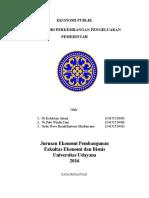Dasar Teori Perkembangan Pengeluaran Pemerintah - Ekonomi Publik