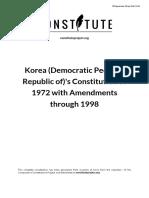 Peoples Republic of Korea 1998