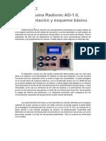 Máquina Radionic AD-1.0, Argumentación y Esquema Básico