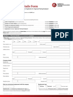 CT-03 Employment Details Form 11i