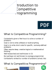 Introduction to Competitive Programming