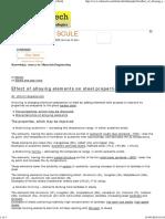 Effect of Alloying Elements on Steel Properties [SubsTech]