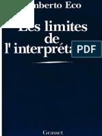 Umberto Eco Les Limites de l Interprétation