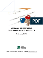 AZ Residential Landlord and Tenant Act - Revised July 3 2015