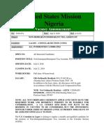 Vacancyannouncement2016 074 Non Immigrant Immigrant Visa Assistant Lagos