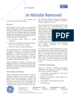 Advances in Nitrate Removal