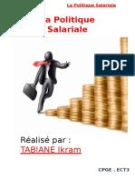 La Politique Salariale