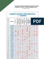 NOTAS I UNIDAD DE FORMACION 2010-A COMPUTACIÓN E INFORMATICA