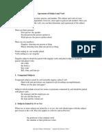 subject verb agreement handout