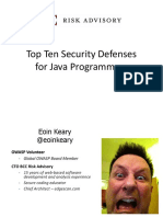 Top Ten Java Defenses