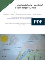 Deepak Malghan Why All Urban Hydrology is Social Hydrology