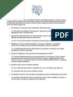 Contract Provisions Checklist