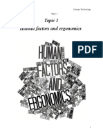 Topic 1 Human Factors and Ergonomics