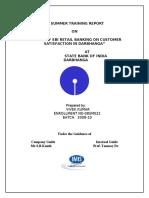 22281794 Project on Sbi Retail Banking by Vivek Kumar Darbhanga