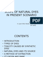 SCOPE OF NATURAL DYES IN PRESENT SCENARIO.pptx