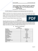 Engineering Journal::Seismic Evaluation and Comparision of Plan Irregular and Plan Irregular Soft Storey Building with Cross Bracing and Shear Wall System