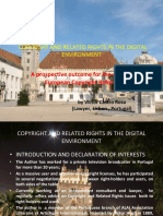 Copyright and Related Rights in the Digital Environment 13.04.2015