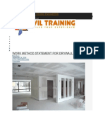 Dry Wall Partition Meathod Statement