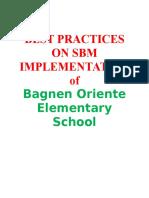 SBM Practices-Bagnen Oriente