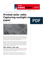 Solar Cells Printed on Paper_ Capturing Sunlight on Pictures