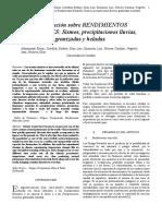 Investigación sobre RENDIMIENTOS NATURALES