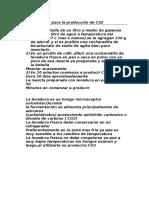 Metodo Casero Para La Producción de C02