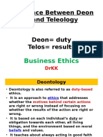 Difference Between Deontology and Teleology