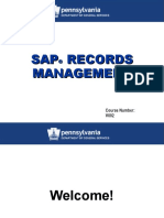 SAP Records Management