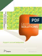 Rapport Annuel 2009-2010 - Commissaire aux services en français