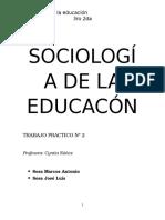 Sociología de La Educacón