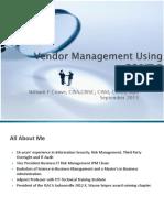Vendor Management Using COBIT