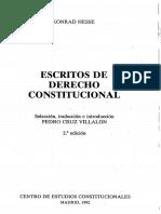 Escritos de Derecho Constitucional - Konrad Hesse (Capitulos Primero y Segundo)