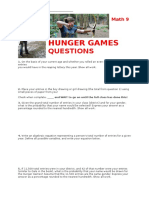 Hunger Games Probability Worksheet