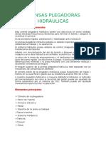 PRENSAS PLEGADORAS HIDRÁULICAS