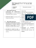 Titluri de Calificare de Asistent Medical Generalist Pentru Care NU Se Cere Experienta Profesionala