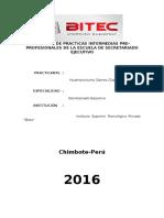 Informe Practicas Intermedias UNS - Huamanchumo Gamez Gianella - Secretariado Ejecutivo