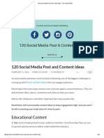 120 Social Media Post and Content Ideas
