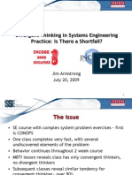 Divergence in System Engineering - Jim Armstrong