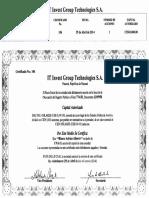 Certificados de Los Accionistas