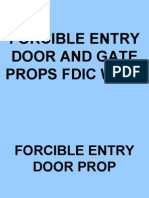 FORCIBLE ENTRY DOOR AND GATE PROPS FDIC WEST