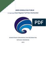 Dokumen Penyempurnaan Regulasi Tarif Dan Interkoneksi - Konsultasi Publik