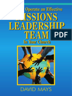 How to Operate Missions in Your Church Teambook