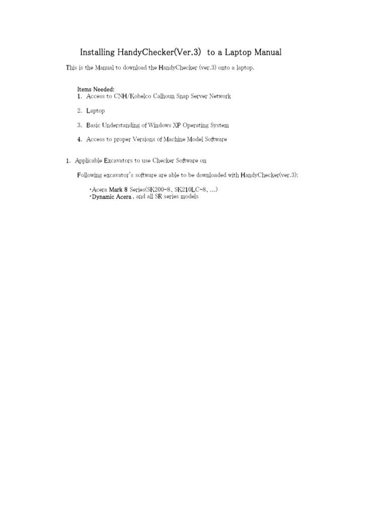 handychecker ver 3 laptop install manual pdf microsoft software