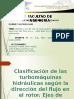 Clasificación de La Turbomáquinas Según Del Dirección Del Flujo (1)