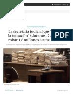La Secretaria Judicial Que _cayó en La Tentación_ (Durante 13 Años) de Robar 1,8 Millones Asume La Cárcel