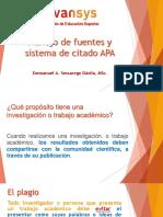 Sesión 03 - Manejo de Fuentes y Sistema de Citado APA