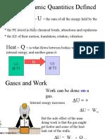2. Thermodynamic PrThermodynamic Processes and Quantities Definedocesses and Quantities Defined